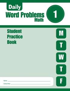 Daily Word Problems, Grade 1 - Student Workbook (5-pack)