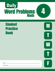 Daily Word Problems, Grade 4 - Student Workbook (5-pack)