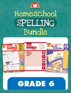 Homeschool Spelling Bundle, Grade 6