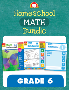 Homeschool Math Bundle, Grade 6