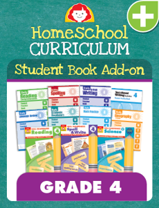 Homeschool Student Book Add-on Set, Grade 4