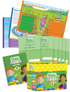 Daily Reading Comprehension Centers, Grade 2 with 20 add-on Student Booklets