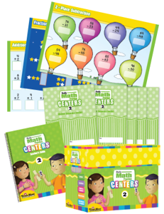 Daily Math Practice Centers, Grade 2 with 20 add-on Student Booklets