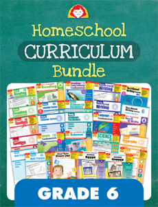 Homeschool Curriculum Bundle, Grade 6
