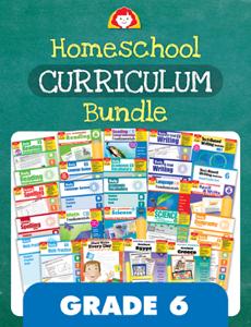 Homeschool Curriculum Bundle, Grade 6