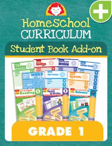 Homeschool Student Book Add-on Set, Grade 1
