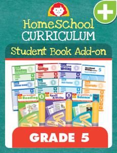 Homeschool Student Book Add-on Set, Grade 5