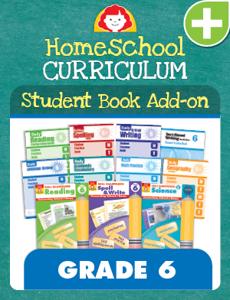 Homeschool Student Book Add-on Set, Grade 6