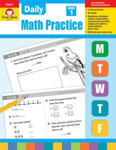 Daily Math Practice, Grade 1- Teacher's Edition, E-book