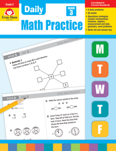 Daily Math Practice, Grade 3 - Teacher's Edition, Print