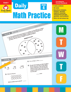 Daily Math Practice, Grade 4 - Teacher's Edition, Print