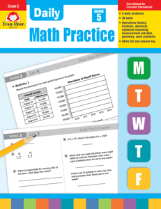 Daily Math Practice, Grade 5 - Teacher's Edition, Print