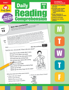 Daily Reading Comprehension, Grade 1 - Teacher's Edition, E-book