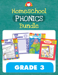 Homeschool Phonics Bundle, Grade 3