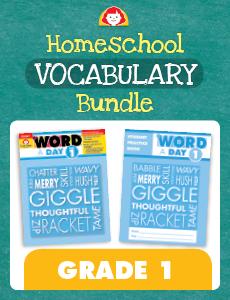 Homeschool Vocabulary Bundle, Grade 1