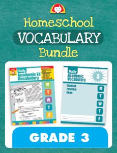 Homeschool Vocabulary Bundle, Grade 3