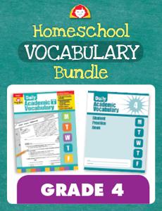 Homeschool Vocabulary Bundle, Grade 4