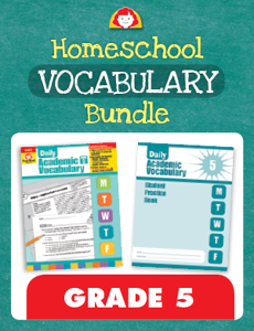 Homeschool Vocabulary Bundle, Grade 5