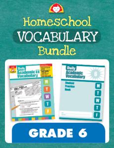 Homeschool Vocabulary Bundle, Grade 6