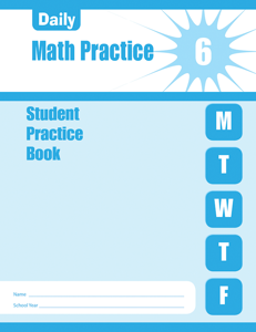 Daily Math Practice, Grade 6 - Student Workbook (5-pack)
