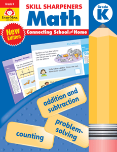 Skill Sharpeners: Math, Grade K - Activity Book