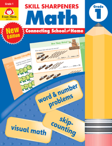 Skill Sharpeners: Math, Grade 1 - Activity Book
