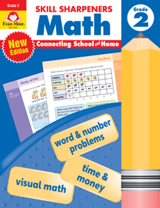 Skill Sharpeners: Math, Grade 2 - Activity Book