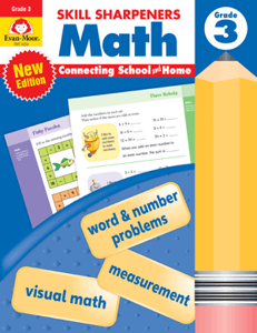 Skill Sharpeners: Math, Grade 3 - Activity Book