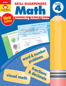 Skill Sharpeners: Math, Grade 4 - Activity Book