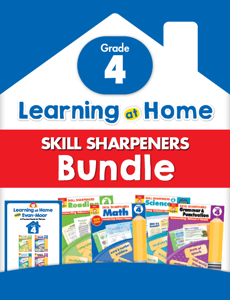 Learning At Home Skill Sharpeners Bundle, Grade 4