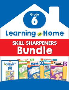 Learning At Home Skill Sharpeners Bundle, Grade 6