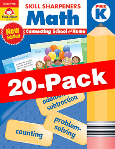 Skill Sharpeners: Math, Grade PreK — Class pack