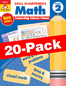 Skill Sharpeners: Math, Grade 2 — Class pack