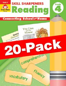 Skill Sharpeners: Reading, Grade 4 — Class pack