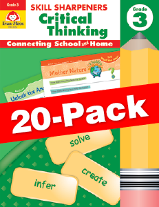 Skill Sharpeners: Critical Thinking, Grade 3 — Class pack