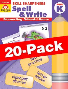 Skill Sharpeners: Spell & Write, Grade PreK — Class pack