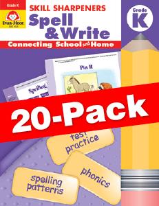 Skill Sharpeners: Spell & Write, Grade K — Class pack