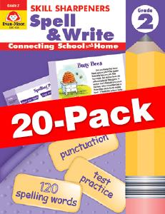 Skill Sharpeners: Spell & Write, Grade 2 — Class pack