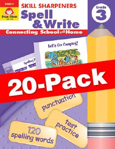 Skill Sharpeners: Spell & Write, Grade 3 — Class pack