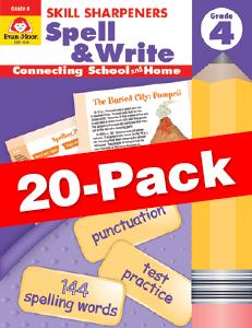 Skill Sharpeners: Spell & Write, Grade 4 — Class pack