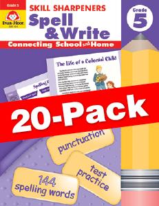 Skill Sharpeners: Spell & Write, Grade 5 — Class pack