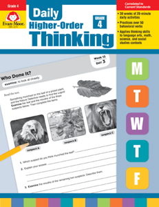Picture of Daily Higher-Order Thinking, Grade 4 - Teacher's Edition, E-book