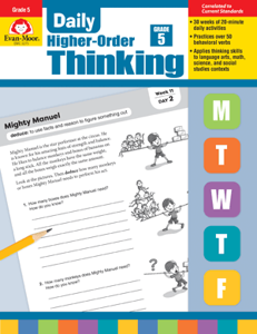 Picture of Daily Higher-Order Thinking, Grade 5 - Teacher's Edition, E-book