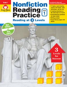 Picture of Nonfiction Reading Practice, Grade 1 - Teacher Reproducibles, E-book
