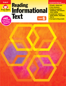 Picture of Reading Informational Text, Grade 6 - Teacher's Edition, E-book