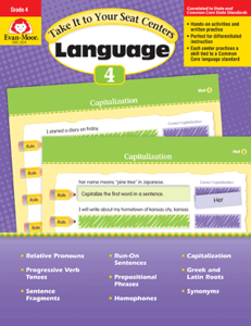 Picture of Take It to Your Seat: Language Centers, Grade 4 - E-book