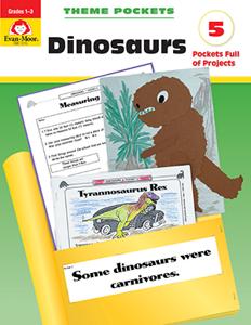 Picture of Theme Pockets: Dinosaurs, Grades 1-3- Teacher Reproducibles, E-book