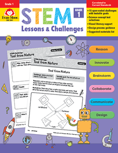 STEM Lessons and Challenges, Grade 1 - Teacher Reproducibles, Print